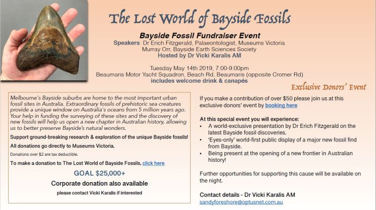 Bayside Fossils Fundraiser